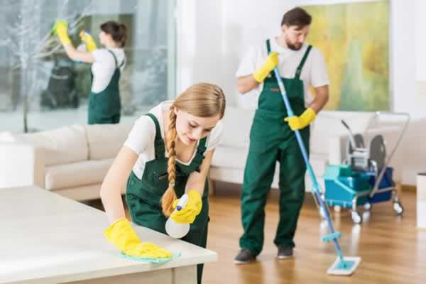 home cleaning crew